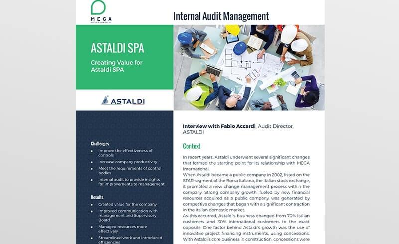 Internal Audit Management: Creating Value for Astaldi