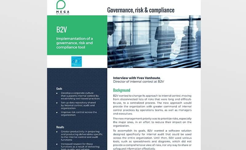 B2V: Implementation of a governance, risk and compliance tool