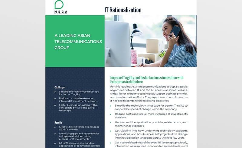 A Leading Asian telecommunications group undertakes IT rationalization initiative