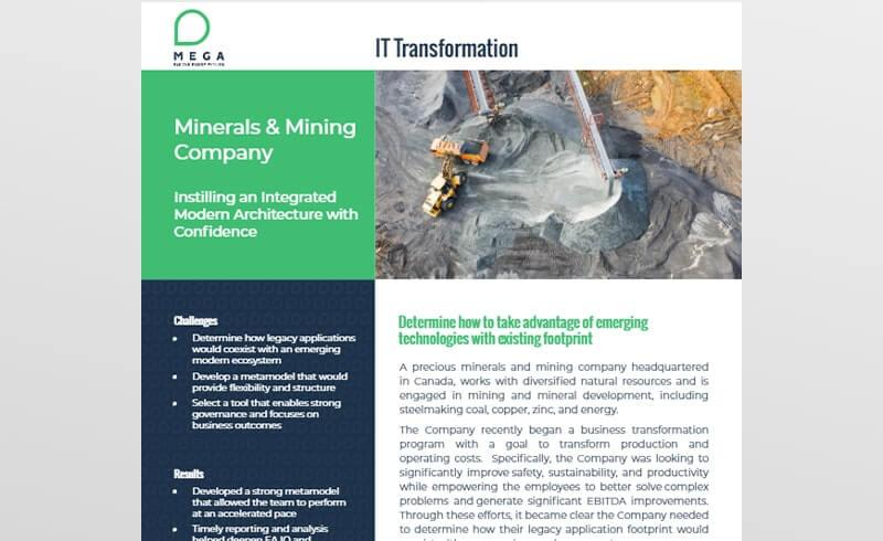 Mining company instills an integrated modern architecture with confidence