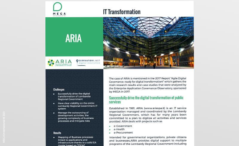 ARIA - Regione Lombardia: successfully drive the digital transformation of public services