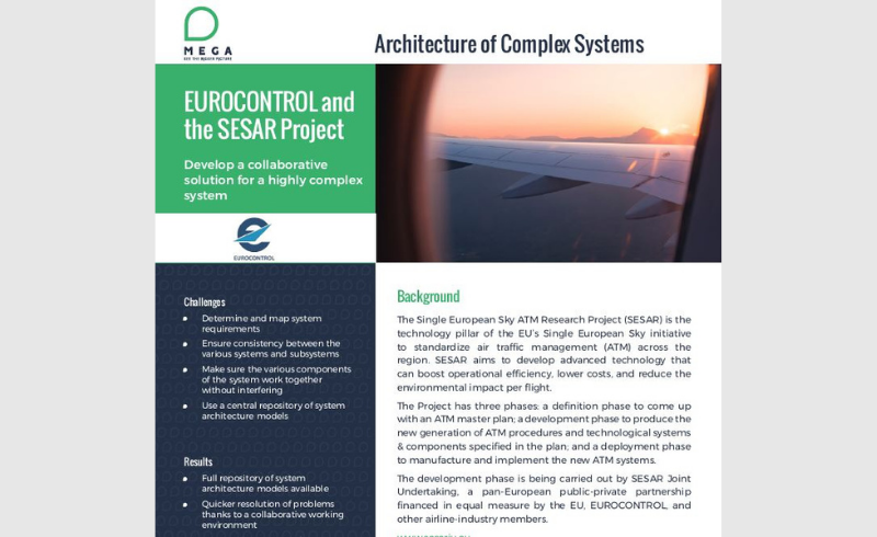 Eurocontrol and the SESAR Project - Architecture of Complex Systems
